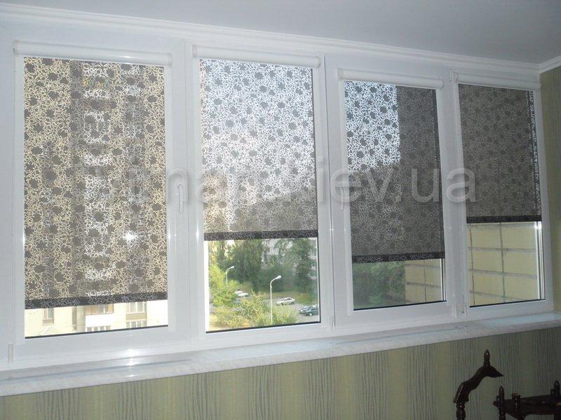 Ролеты из ткани на окна своими руками 41